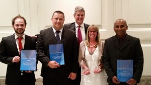 (L to R): Damien Di Cosmo, Richard Kirkland, Steve Thorogood (General Manager), Sharon Dellevergini, Jude Fernando